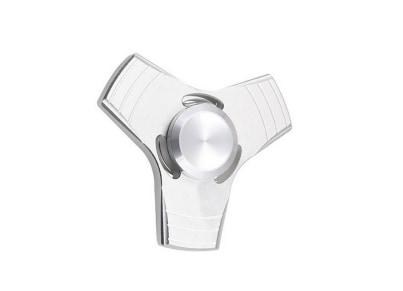 Fidget Spinner Metal - Tri-Spinner Silver White - FST704