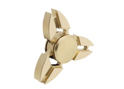 Fidget Spinner Metal - Tri-Spinner - Plier End Gold - FST709