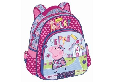 Τσάντα Πλάτης - Peppa Pig - 27x31x10 cm - Ροζ