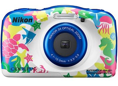 Compact Nikon Coolpix W100 Αδιάβροχη - Λευκό με σχέδιο