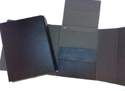 Κουτί Αρχείου με Λάστιχο Fiber 26x38x8 cm - Μαύρο