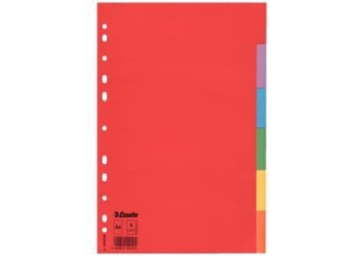 Διαχωριστικά Α4 6 Θεμάτων - Χρωματιστά Χάρτινα Esselte