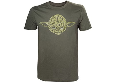 T-Shirt Bioworld Star Wars - Yoda Word Play - Πράσινο XL