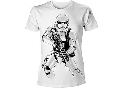 T-Shirt Bioworld Star Wars - Armed Stormtrooper - Λευκό L