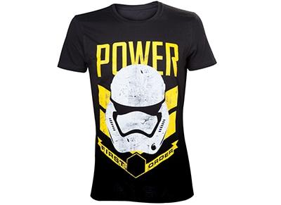 T-Shirt Bioworld Star Wars - First Order Stormtrooper Power - Μαύρο S