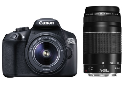 Canon EOS 1300D Kit 18-55mm III & Canon Φακό 75-300mm EGP