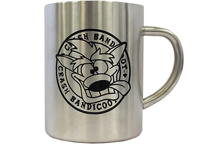 Κούπα Numskull Crash Bandicoot Steel Mug - Ασημί