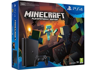 Sony PlayStation 4 - 500GB Slim & Minecraft
