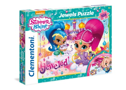 Παζλ Jewels Shimmer and Shine - Super Color Disney Clementoni - 104 Κομμάτια