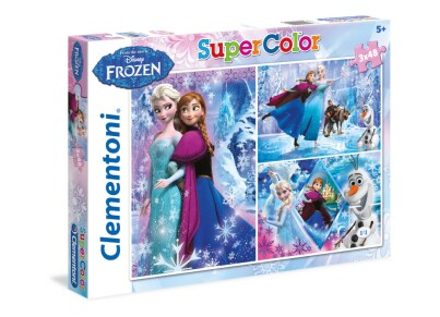 Παζλ Disney Frozen - Super Color Disney Clementoni - 3x48 Κομμάτια
