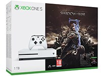 Microsoft Xbox One S White - 1TB & Middle-Earth: Shadow of War