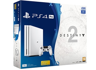 Sony PlayStation 4 Pro White Limited Edition - 1TB & Destiny 2 Deluxe Edition