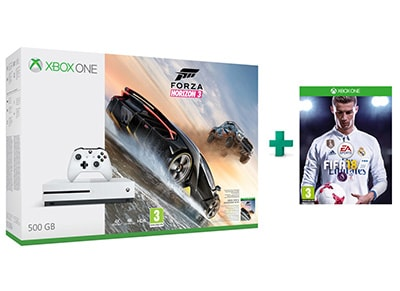 Microsoft Xbox One S White - 500GB & Forza Horizon 3 & FIFA 18