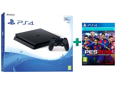 Sony PlayStation 4 - 500GB Slim & Pro Evolution Soccer 2018