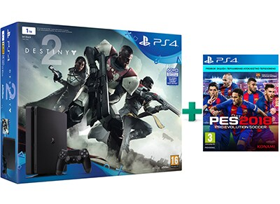 Sony PlayStation 4 Slim - 1TB & Destiny 2 & PES 2018