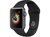 Apple Watch Series 3 38mm Aluminium Space Gray Sport Band Μαύρο