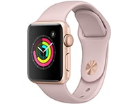 Apple Watch Series 3 38mm Aluminium Gold Sport Band Pink Sand