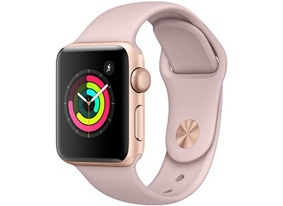 Apple Watch Series 3 - 38mm Aluminium Gold - Sport Band Pink Sand