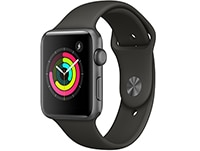 Apple Watch Series 3 42mm Aluminium Space Gray Sport Band Γκρι