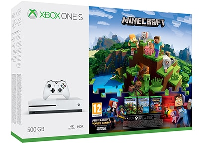 Microsoft Xbox One S White - 500GB & Minecraft & Minecraft: Story Mode Season 1 Complete