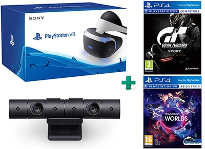 PlayStation VR & Gran Turismo Sport D1 Edition & VR Worlds & PS4 Camera