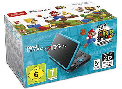 New Nintendo 2DS XL & Super Mario 3D Land - Μαύρο/Μπλε