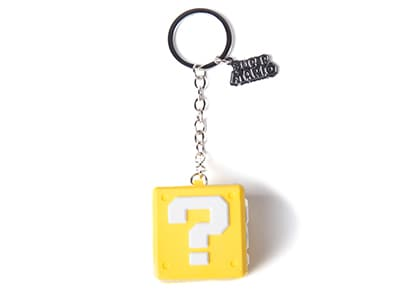 Μπρελόκ Bioworld Nintendo - Question Mark Box - Rubber 3D Keychain