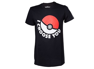 T-Shirt Bioworld Pokemon - I Choose You - Μαύρο XXL