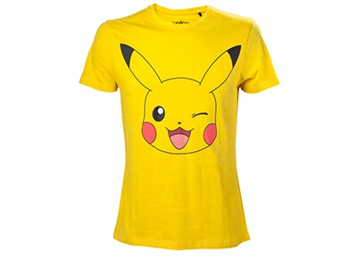 T-Shirt Bioworld Pokemon - Pikachu Winking - Κίτρινο XL