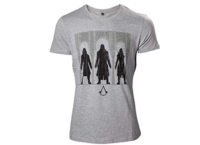 T-Shirt Bioworld Assassin's Creed - Group of Assassin's - Γκρι XL