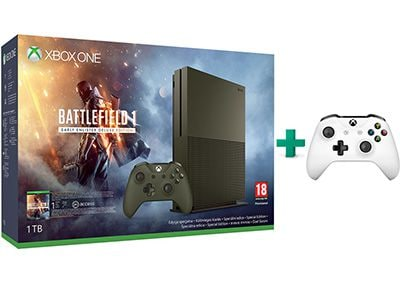 Microsoft Xbox One S Military Green - 1TB & Battlefield 1 Deluxe Edition & 2ο χε gaming   κονσόλες   xbox one