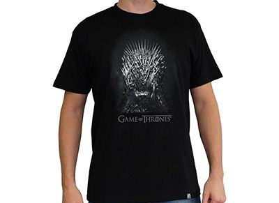 T-Shirt Abysse Game of Thrones Iron Throne Μαύρο - XL