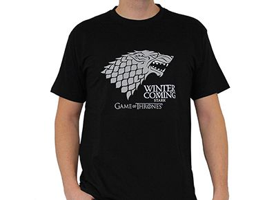 T-Shirt Abysse Game of Thrones Winter is Coming Μαύρο - L