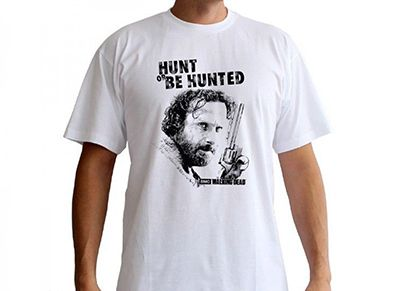 T-Shirt Abysse The Walking Dead Hunt or be Hunted Λευκό - L