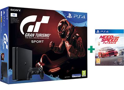 Sony PlayStation 4 - 1TB Slim & Gran Turismo Sport & Need for Speed Payback gaming   κονσόλες   ps4