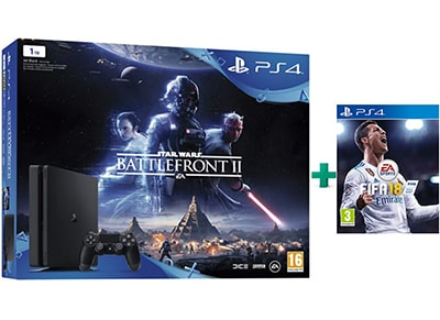 Sony PlayStation 4 Slim - 1TB & Star Wars Battlefront II & FIFA 18 gaming   κονσόλες   ps4