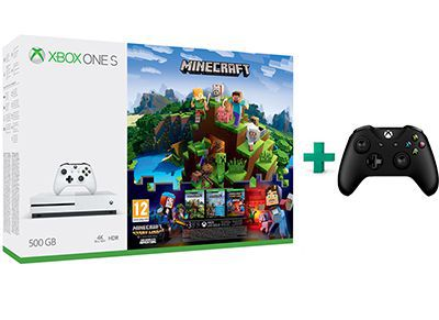 Microsoft Xbox One S White - 500GB & Minecraft & Minecraft: Story Mode S1 Comple gaming   κονσόλες   xbox one