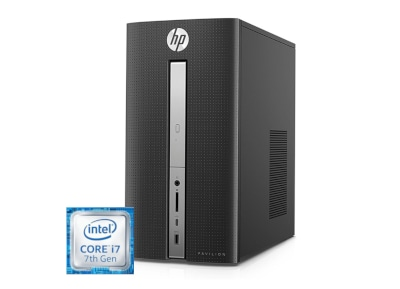 HP Pavilion Desktop PC 570-p004nv - (i7-7700/8GB/1128GB/GTX 1050 2GB) - Desktop PC