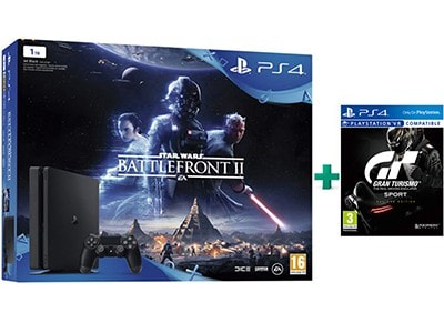 Sony PlayStation 4 Slim - 1TB & Star Wars Battlefront II & Gran Turismo Sport Da gaming   κονσόλες   ps4