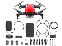 Drone DJI Mavic Air Fly More Combo με 4K Κάμερα Κόκκινο