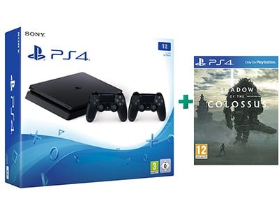 Sony PlayStation 4 - 1TB Slim D Chassis & 2 χειριστήρια & Shadow of the Colossus