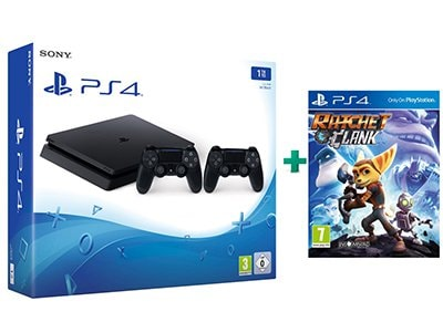 Sony PlayStation 4 - 1TB Slim D Chassis & 2 χειριστήρια & Ratchet & Clank