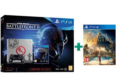Sony PS4 1TB Slim 1TB Limited Edition & Star Wars Battlefront II Deluxe Edition & Assassin's Creed Origins