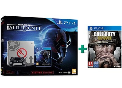 Sony PS4 1TB Slim 1TB Limited Edition & Star Wars Battlefront II Deluxe Edition & Call of Duty: WWII