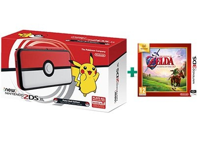 New Nintendo 2DS XL Pokeball Edition & The Legend of Zelda Ocarina of Time Selects