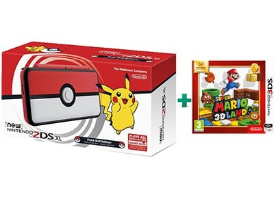 New Nintendo 2DS XL Pokeball Edition & Super Mario 3D Land Selects