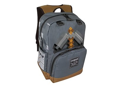 Τσάντα Πλάτης Jinx Minecraft Pickaxe Adventure - Backpack Γκρι