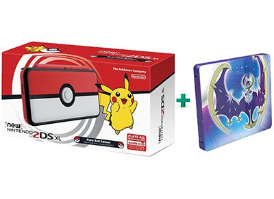 New Nintendo 2DS XL Pokeball Edition & Pokemon Moon Steelbook Edition