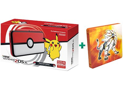 New Nintendo 2DS XL Pokeball Edition & Pokemon Sun Steelbook Edition
