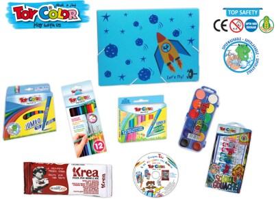 Σετ Ζωγραφικής Toy Color Σχολικό Μπλε